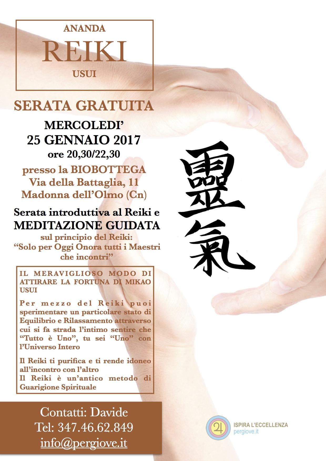 Cuneo Reiki 2017, 2017 Reiki Cuneo, 25 Gennaio 2017 Reiki Gratis a Cuneo (Cn)