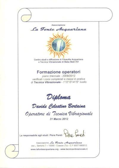 Come aprire il Terzo Occhio Diploma Baba Bedi XVI Davide Bertaina | PerGiove.it