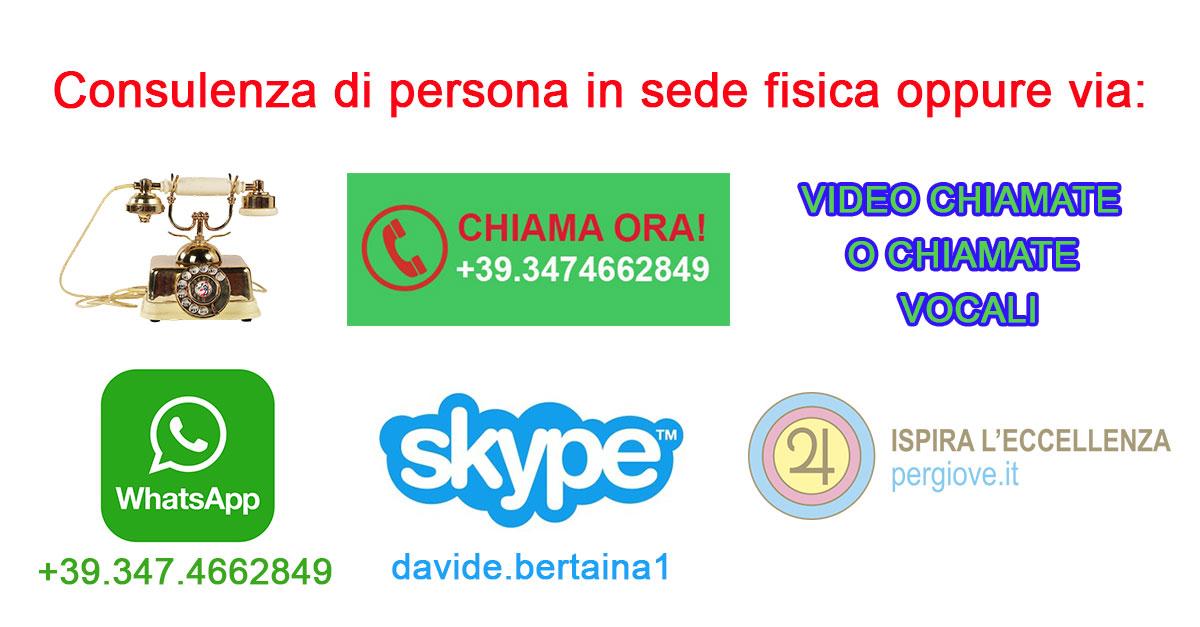 chiama ora via telefono o videochiamata Davide Celestino Bertaina | PerGiove.it